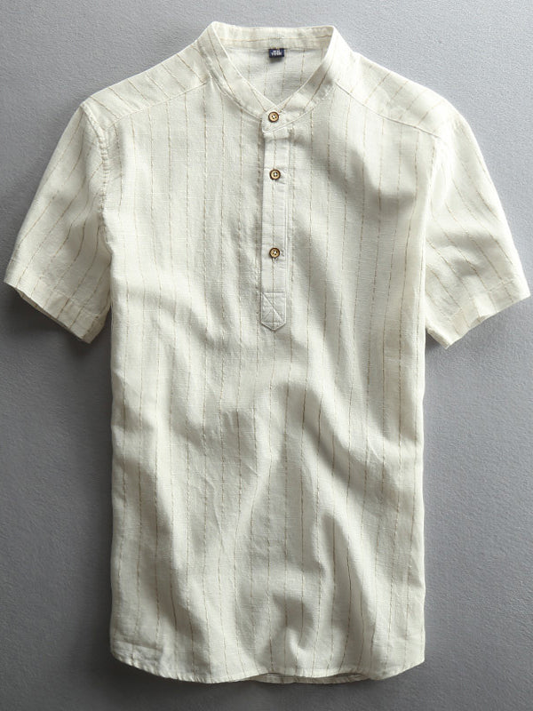 Men Fashion Solid Casual Summer Shirt