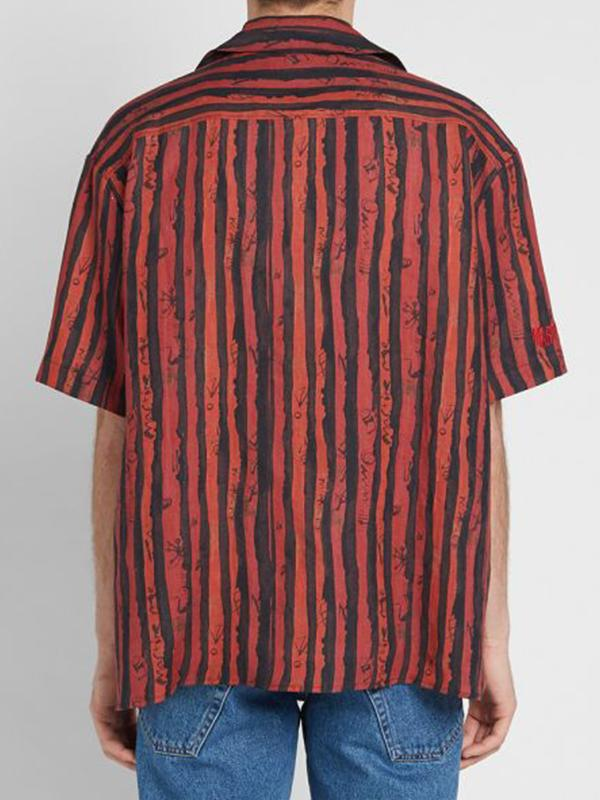 Men Casual Striped Blouses&Shirts Tops