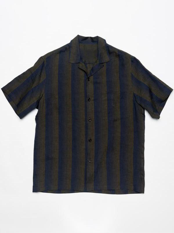 Men Straight Fit Chest Pocket Striped Shirt