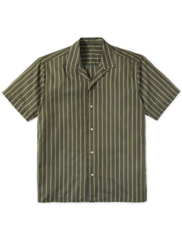 Men Vintage Striped Casual Shirt