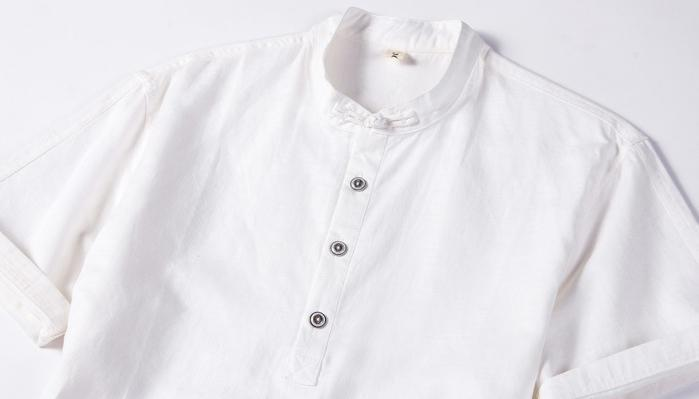 Men Short Sleeves Solid Shirt