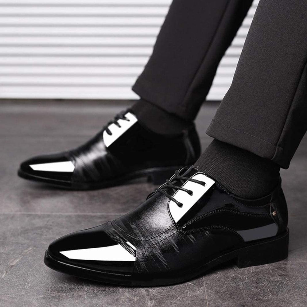 Men Mix PU Color Low-Cut Upper Shoes