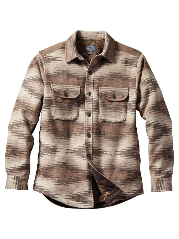 Men Striped Chest Pocket Casual Long Sleeve Shirt