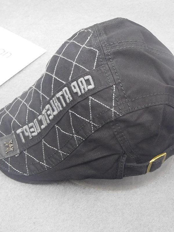 Letter Embroidered Casual Cap Beret Hat