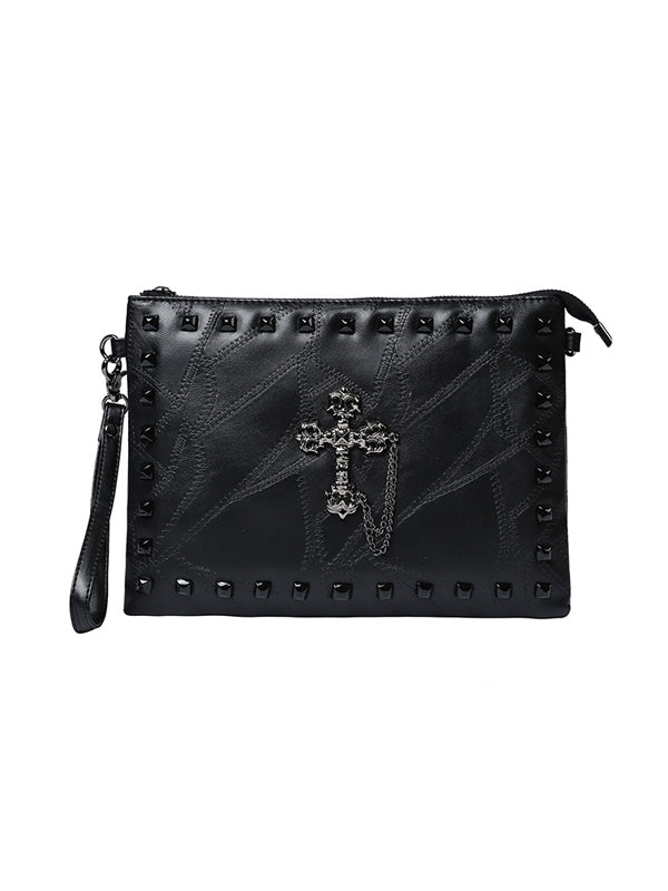Rivet Leather Zipper Handbags