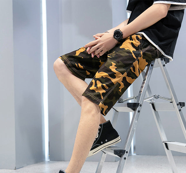 Men Casual Camouflage Loose Shorts