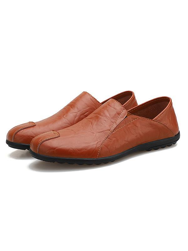 Slip On Casual Comfortable Leather Loafers Shoes