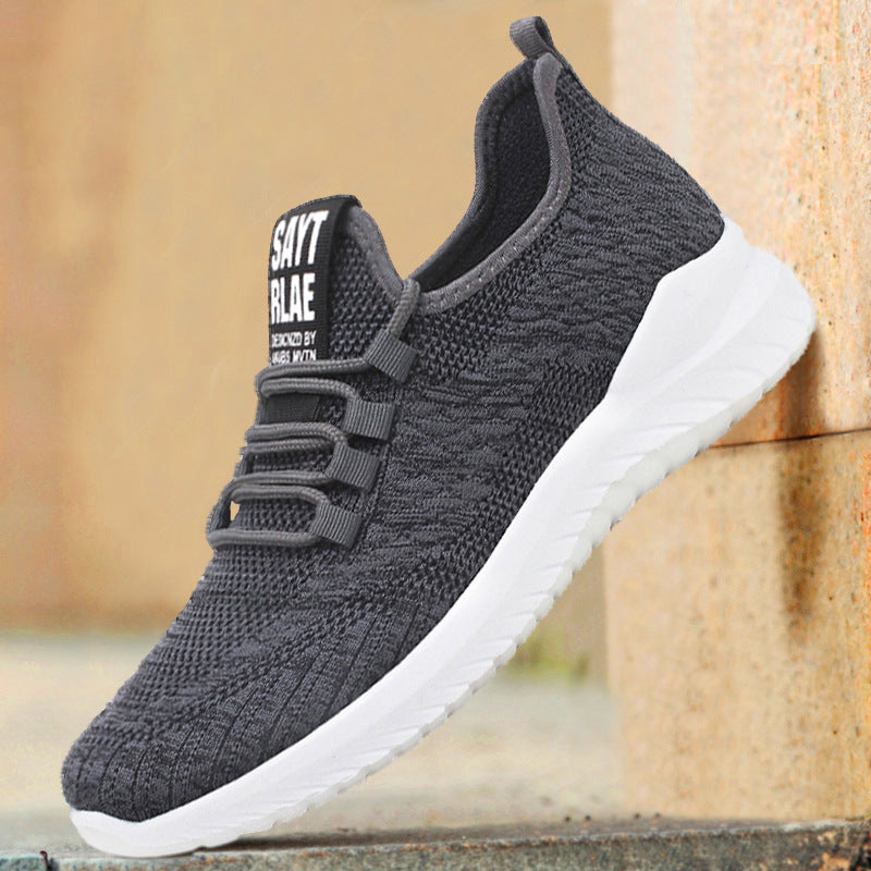 Men Casual Lace-Up Mesh Fabric Athletic Shoes