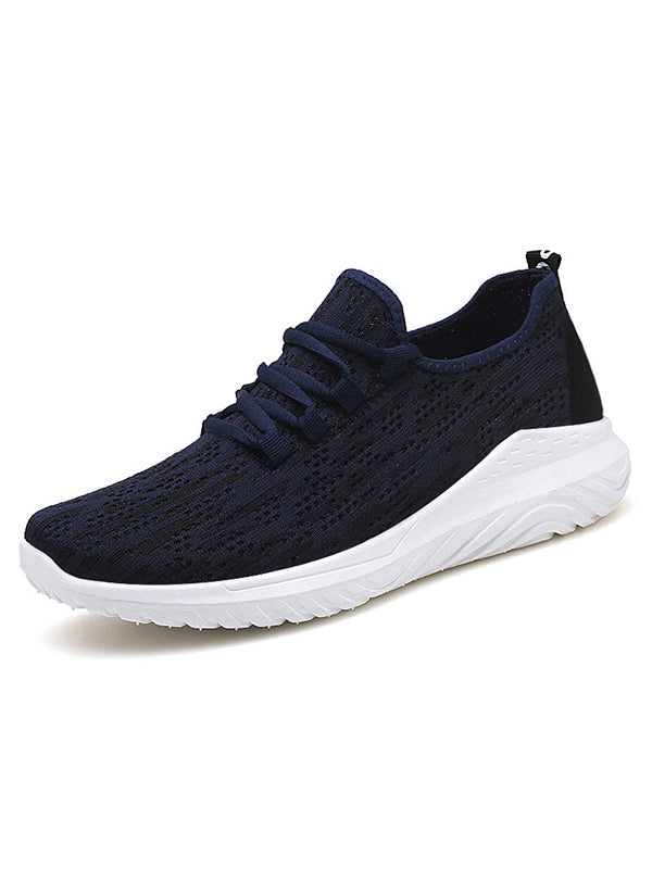 Men Striped  Lace-Up Sports Shoes