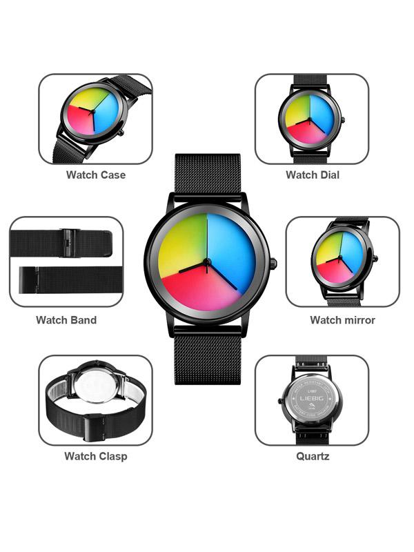 Rainbow Creative Color Convertible Quartz Watch