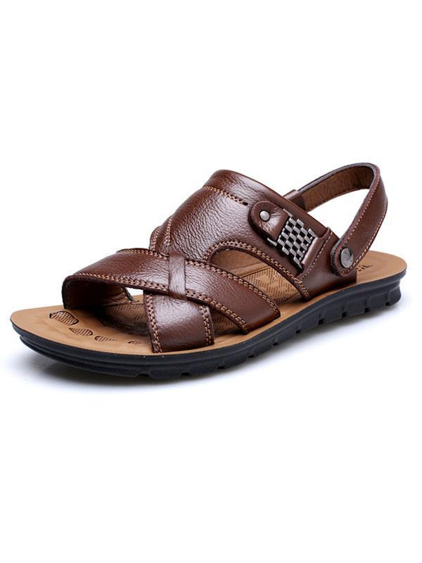 Men Simple Beach Casual Flat Sandal