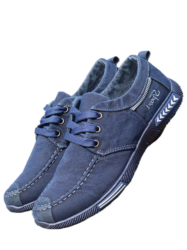 Breathable Lace-Up Casual Shoes