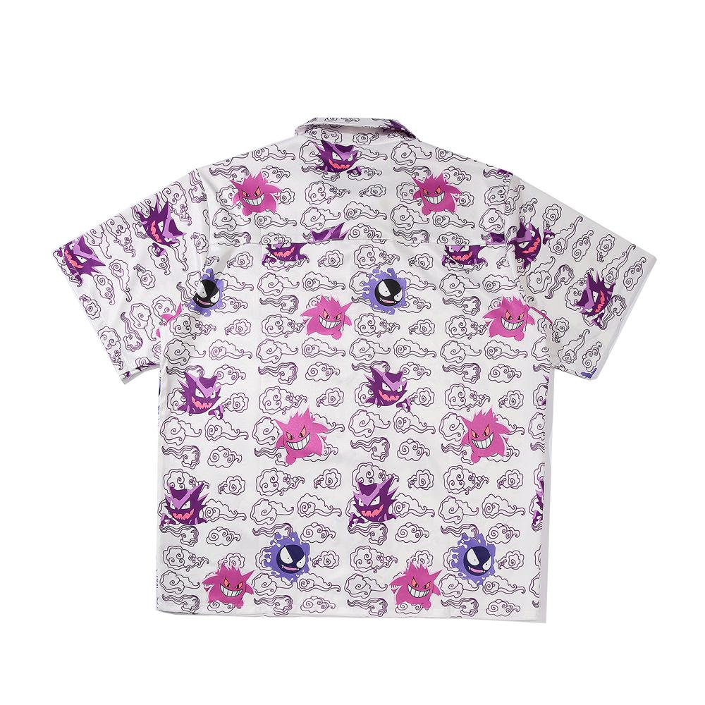 Men Fashion Beach Cartoon Printed Shirt
