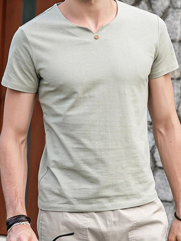 Men Basic Simple T-Shirt