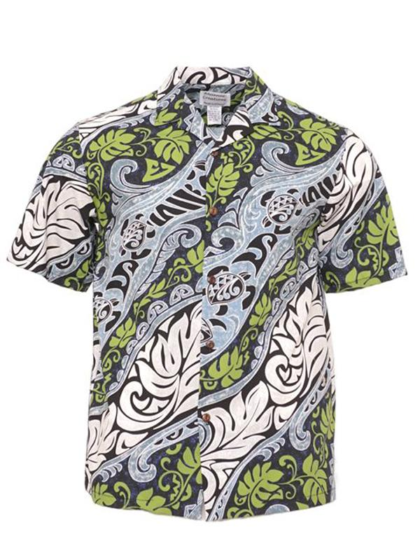 Men Ethnic Printed Short Sleeves Lapel Retro Shirt