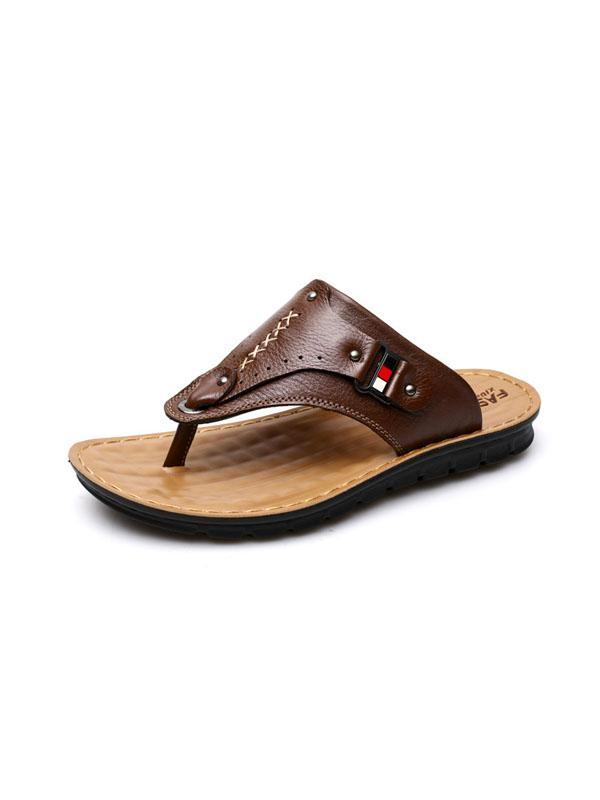 Solid Flip Fops Casual Simple Sandal