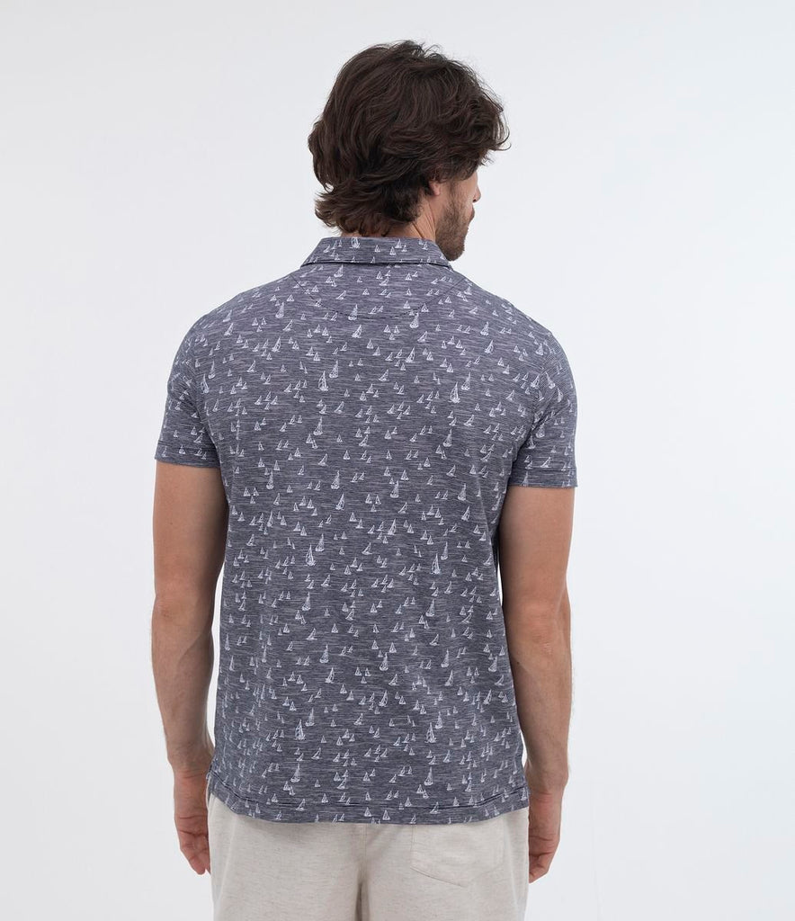 Men Hawaiian Bamboo Leaves Printed Shirt