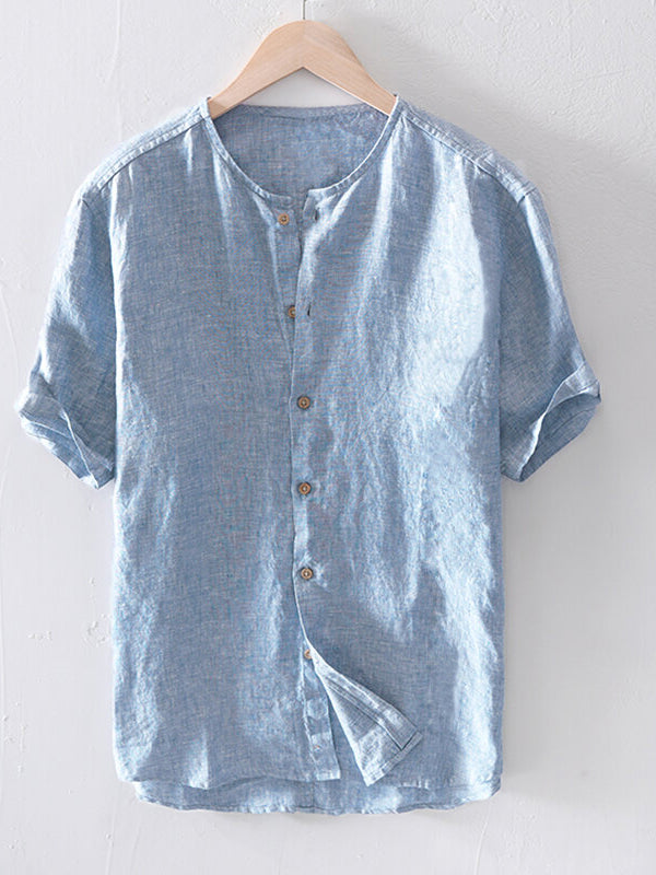 Men Solid Simple Casual Shirt