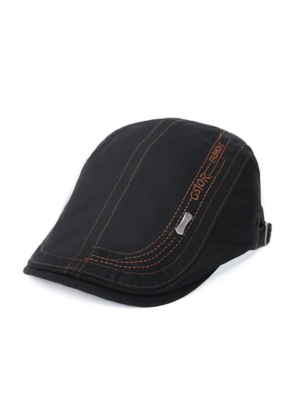 Letter Printed Casual Outdoor Beret Hat