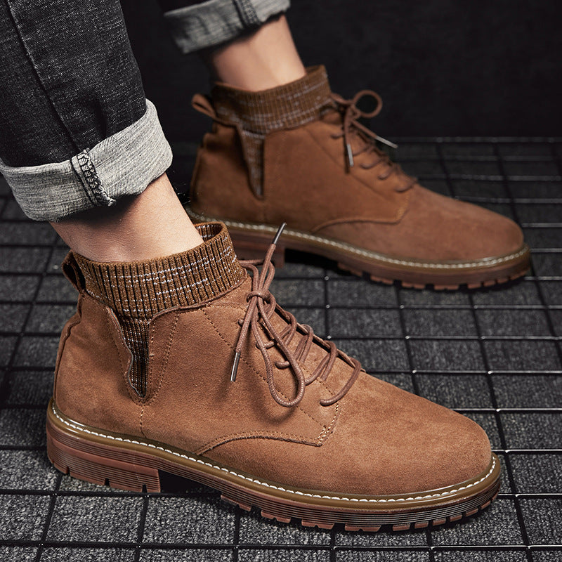 Mens Casual Winter High Top Martin Booties