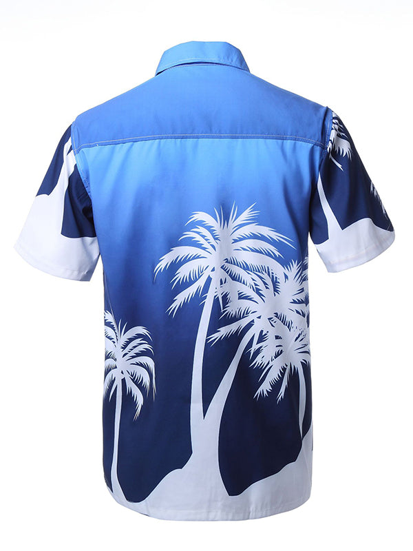 Men Fashion Hawaiian Beach Printed Shirt