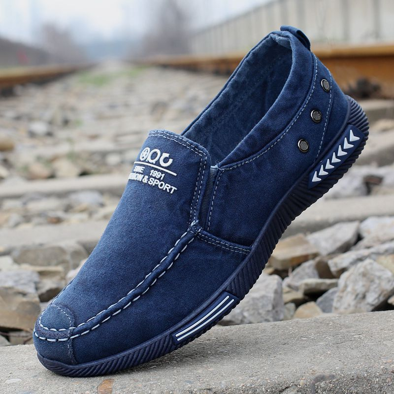 Solid Breathable Slip-On Casual Shoes