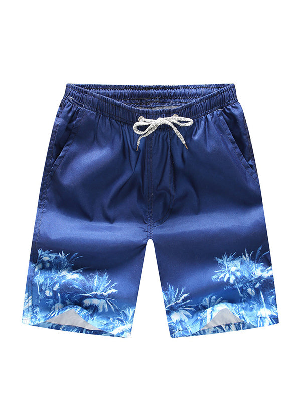 Men Coconut Printed Summer Fashion Shorts Swim Trunks