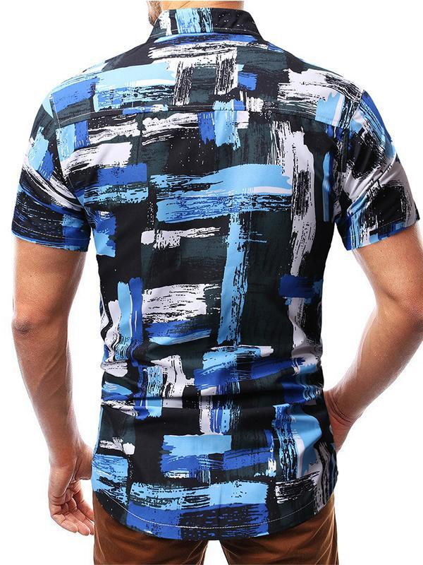 Men Short Sleeve Printing Shirt