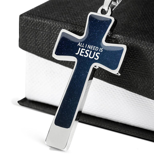 Cross Pendant Necklace - All I Need is Jesus #2
