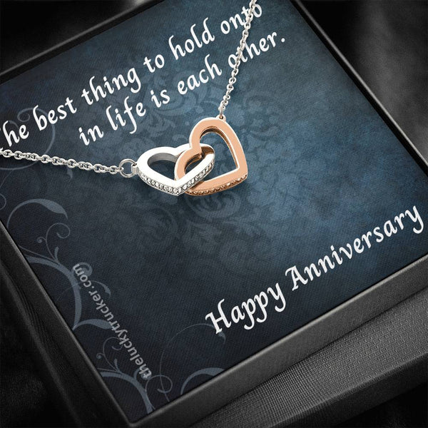 #3 Happy Anniversary Gift Set with Interlocking Hearts Necklace