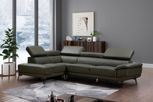 Martin Real Leather Modern Sectional
