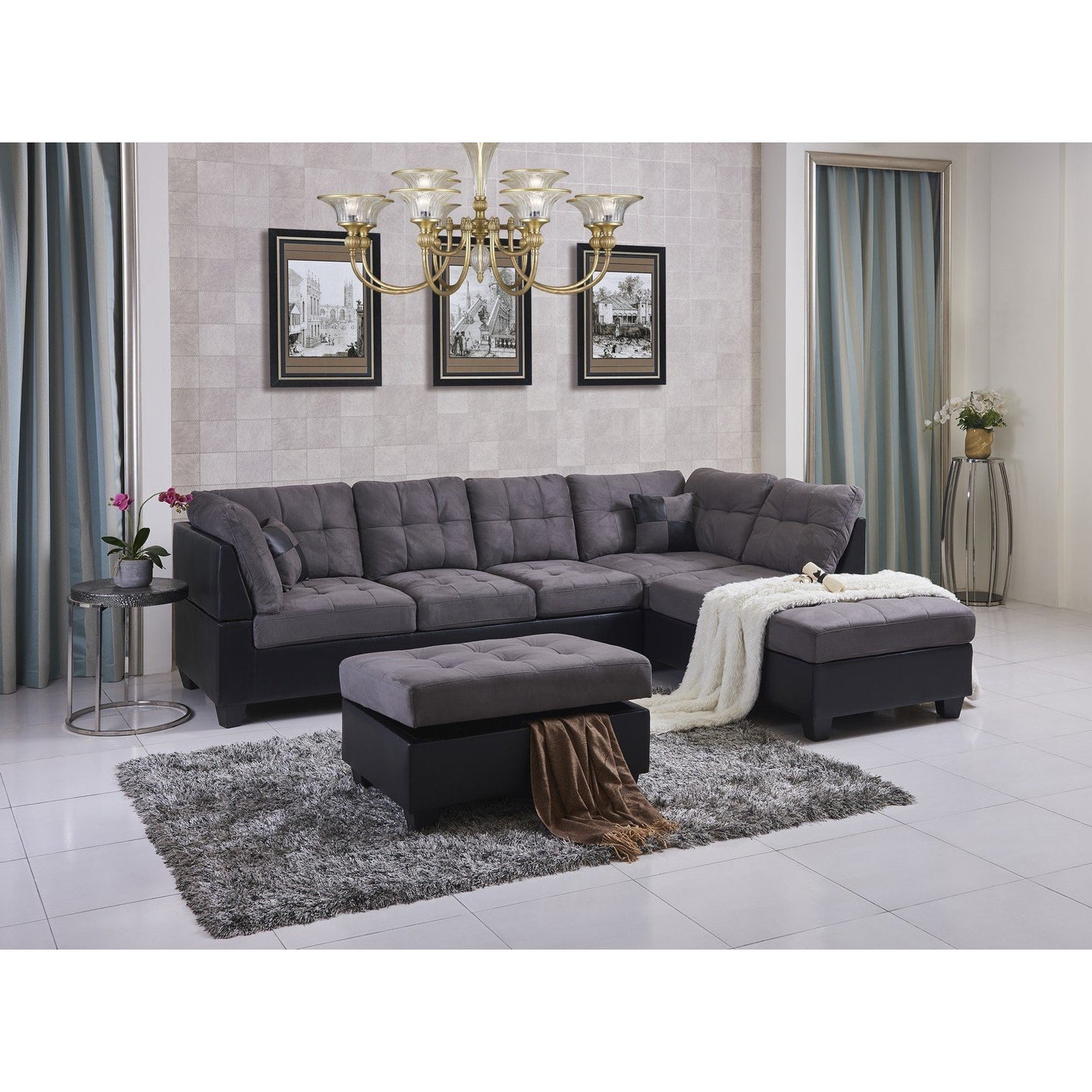 Eva Sectional Sofa with Ottoman