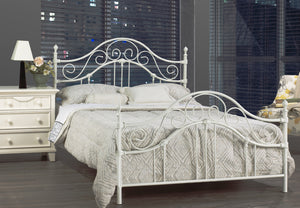 Katrina White Bed, Double/Queen