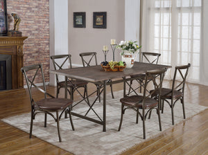 Cloe Dining Series(TABLE W/6 CHAIRS)