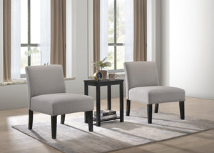 Shipra Accent Chair x 2, Coffee Table X 1, (3Pcs/Box)