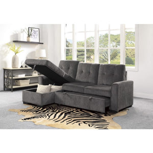 Carolina Series Reversible Sectional Sleeper - Grey