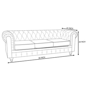 Abruzzo Chesterfield Sofa