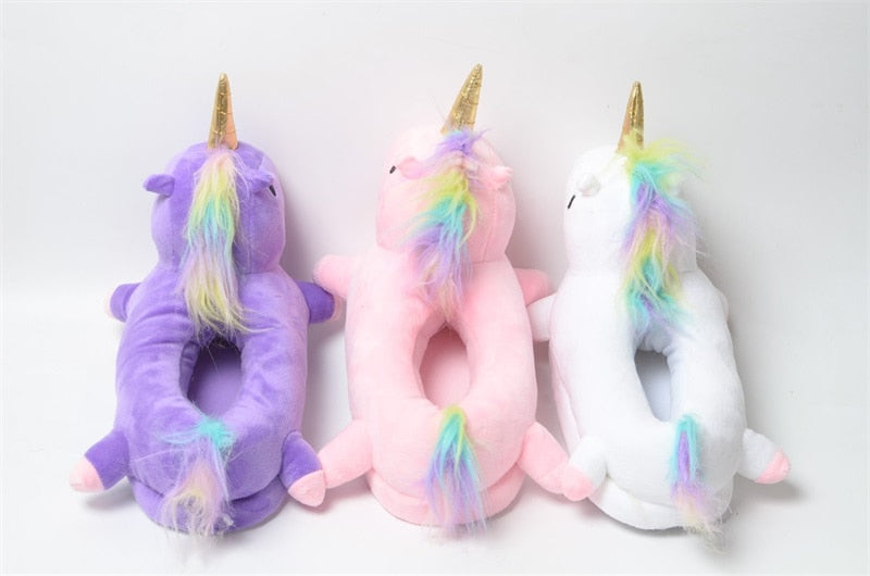 White Unicorn Slippers - Onesiemania