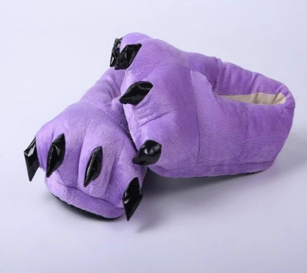 Purple Animal Slippers - Onesiemania