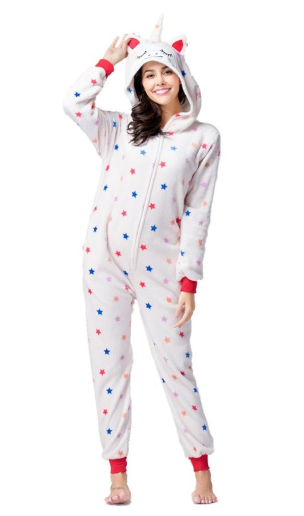 White Starry Unicorn Onesie - Onesiemania