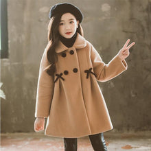 Load image into Gallery viewer, Children Jacket for Girls Winter Wool Warm