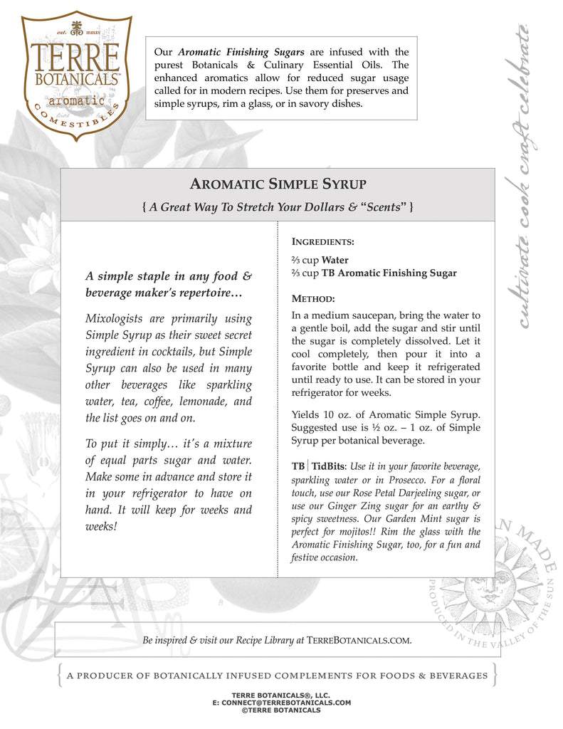 Aromatic Simple Syrup