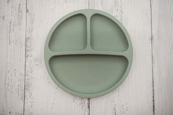 Olive Green Silicone Plate