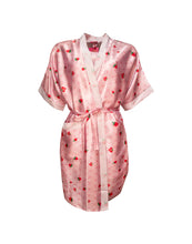 Strawberry Satin bathrobe