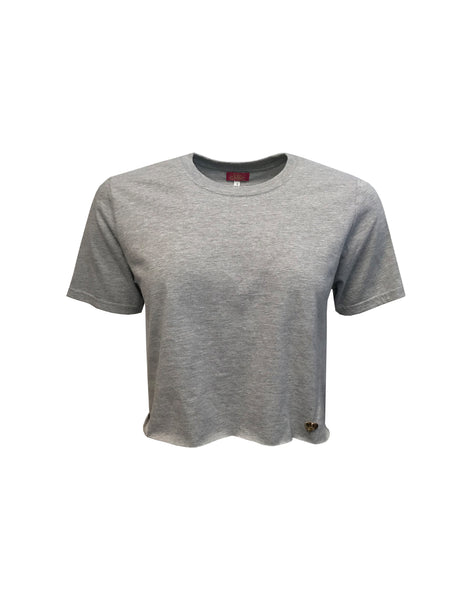 Grey Breeze Cropped T-shirt