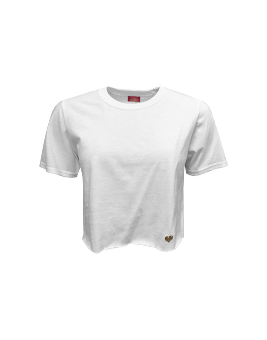 White Breeze Cropped T-shirt