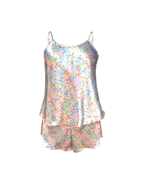 Candy Satin cami and shorts set