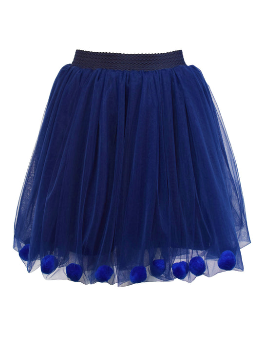 Tutu Chic blue pompom Chien skirt