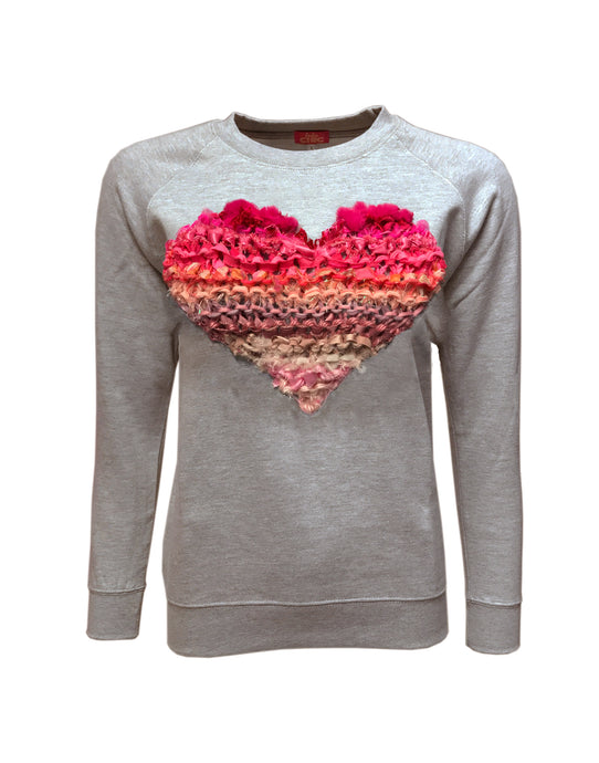 Love Sweater Grey / Ombre Pink