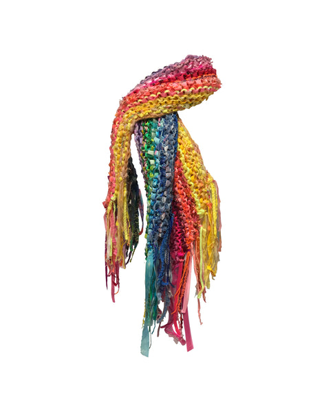 Knitted Rainbow Scarf